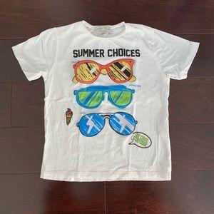 Zara 'Summer Choices' interactive tee, size 5